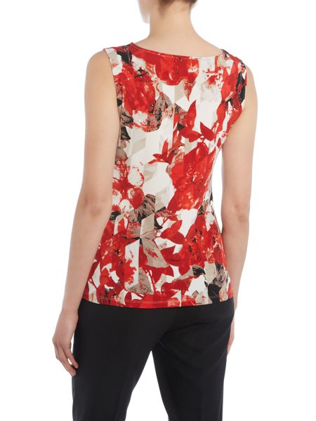 Episode Floral printed top with side buckle