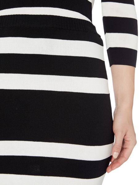 Therapy Brooke Stripe Knit Pencil Skirt