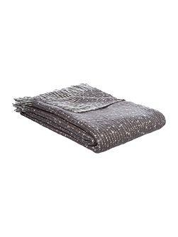 Faux mohair stripe throw, slate