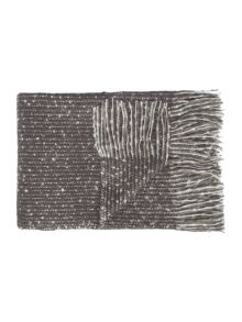 Linea Faux mohair stripe throw, slate