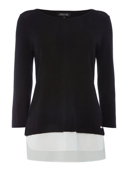 Episode Lightweight knit jumper with layering