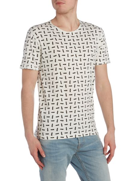 Only & Sons All Over Print Short Sleeve Crew Neck T-shirt