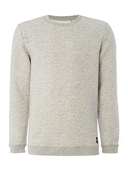 Textured Crew Neck Long Sleeve Sweatshirt