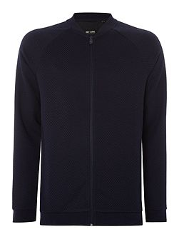 Mens Jacquard Sweat Bomber