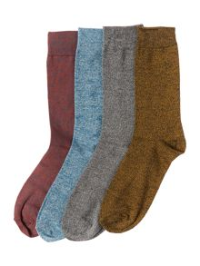 Jack & Jones 4 Pack Plain Socks