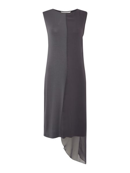 Gray & Willow Sylle side overlay asymmetric dress