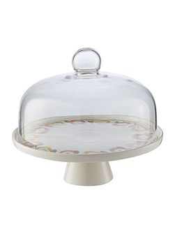 Apples and Pears cake stand with dome