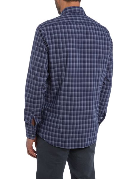 Hugo Boss Lukas regular fit checked long sleeve shirt