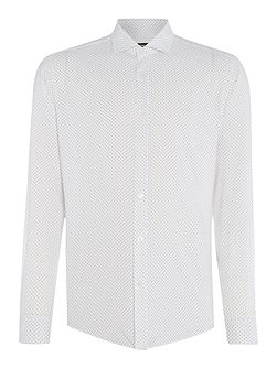 Ridley slim fit micro dot long sleeve shirt
