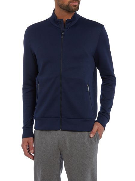 Hugo Boss Sommers regular fit zip through funnel neck sweat
