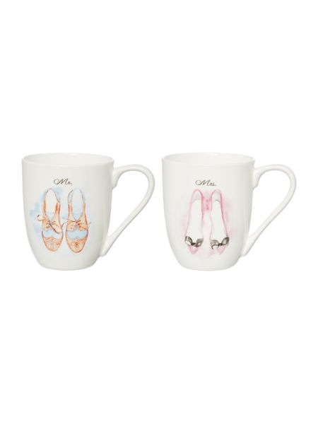 Linea His & Her Shoes Set Of 2 Mugs