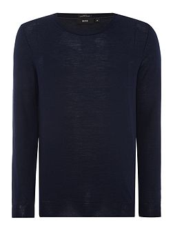 Leno slim fit merino wool crew neck jumper