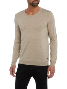 Hugo Boss Leno slim fit merino wool crew neck jumper