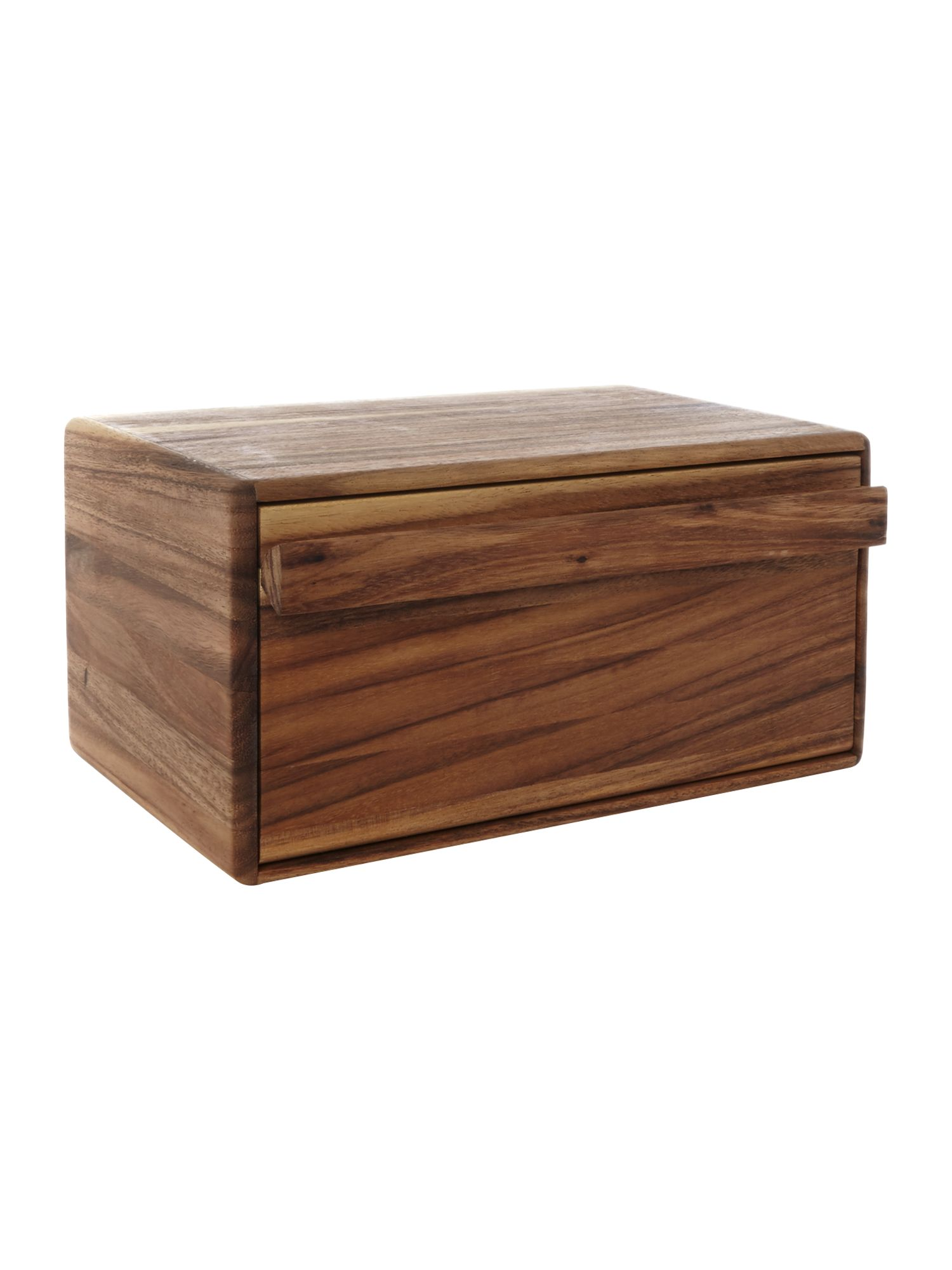 Image of Linea Drop Front Wooden Bread Bin