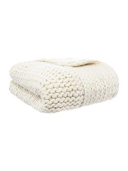 Giant rib throw, cream