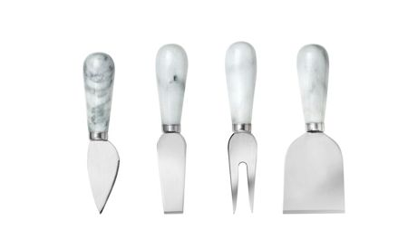 Linea Set of 4 marble cheese knives
