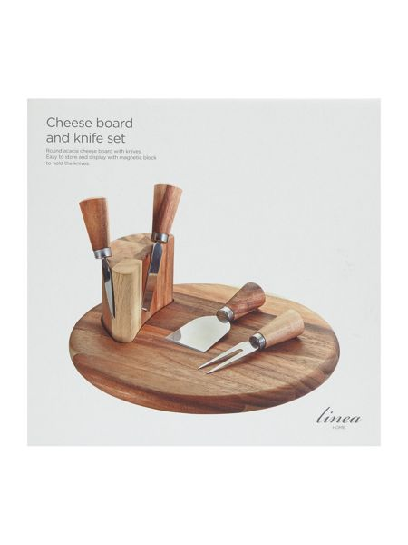 Linea Cheese board with knives