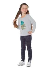 Little Dickins & Jones Girls Sparkly print leggings