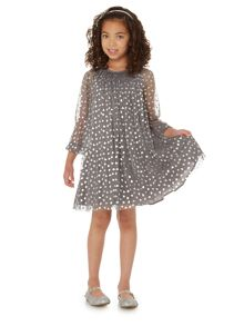 Little Dickins & Jones Girls Heart Print Dress