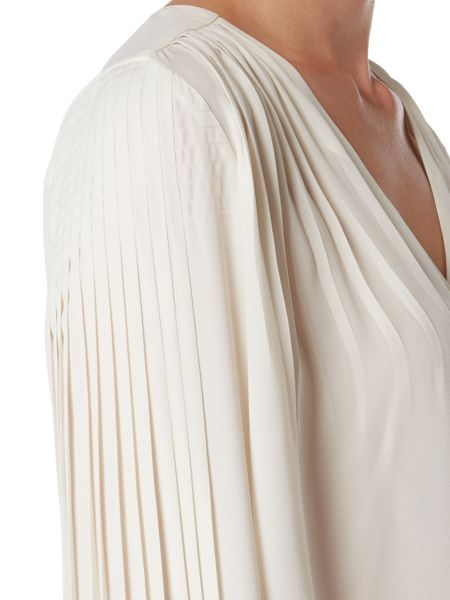 Biba Pleat back and sleeve detail blouse