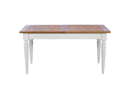 Shabby Chic Willow II 155cm rectangle extending dining table
