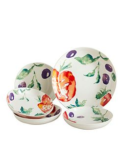Painterly pasta bowl set
