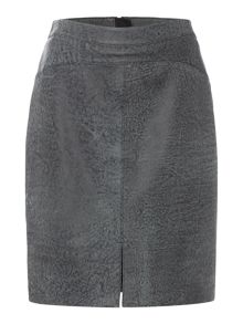 Label Lab Washed leather skirt