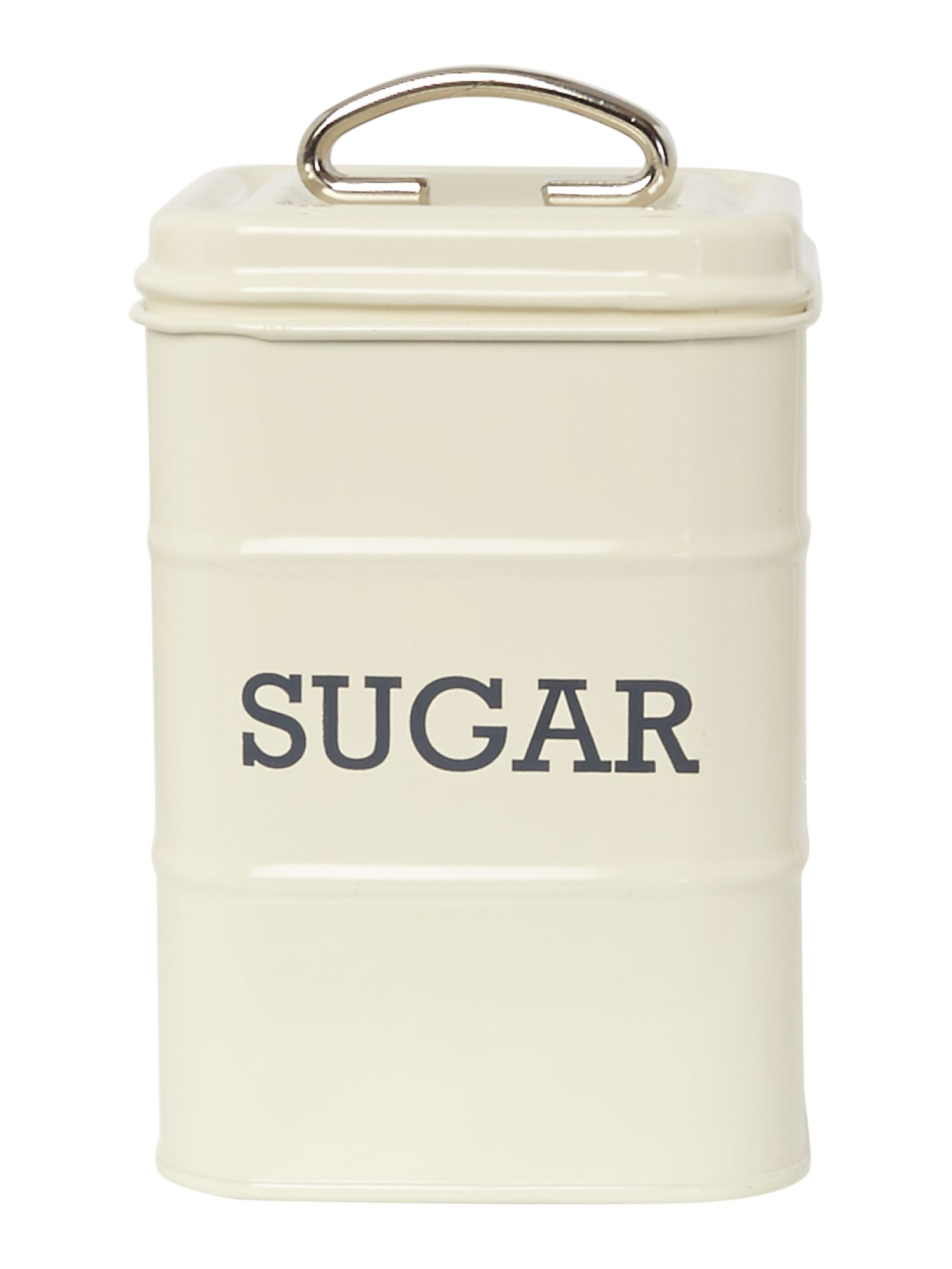Linea Cream tin sugar storage jar