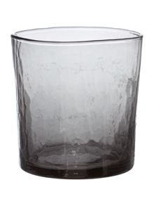 Gray & Willow Hammered Square Tumbler