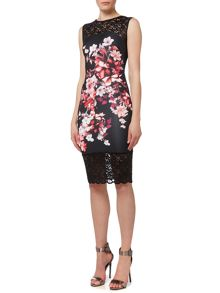 Lipsy Sleeveless Floral Lace Top Floral Bodycon Dress
