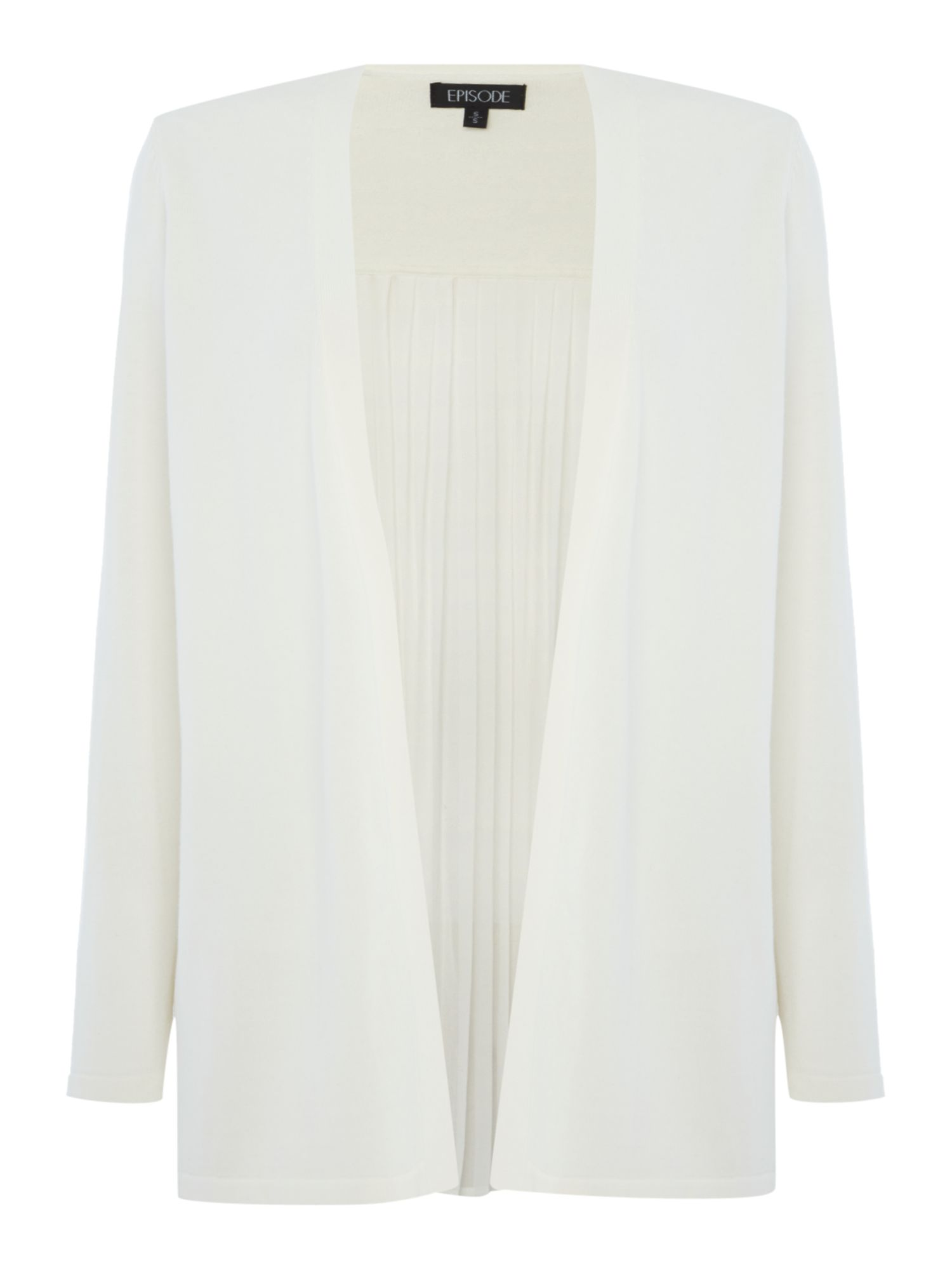 Episode Episode Knitted cardigan with pleated back, Off White
