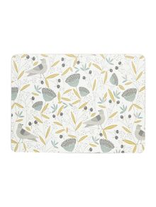 Dickins & Jones Turtle dove Placemat Set Of 4