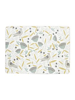 Turtle dove Placemat Set Of 4