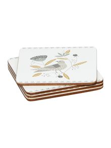 Dickins & Jones Turtle dove Coaster Set Of 4