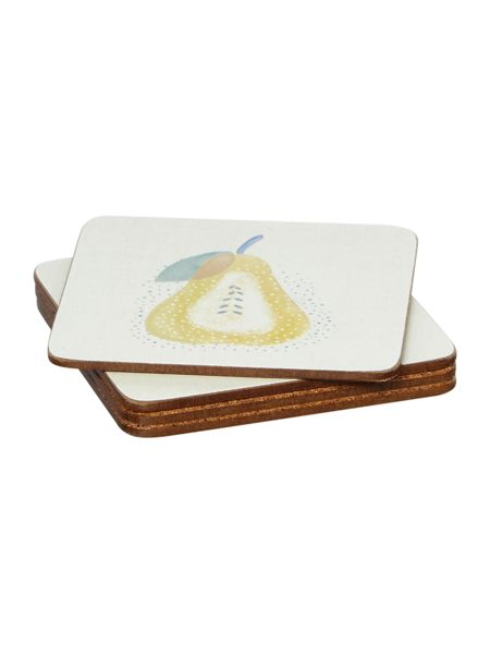 Dickins & Jones Apples & Pears Coaster Set Of 4