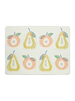 Apples & Pears Placemat Set Of 4