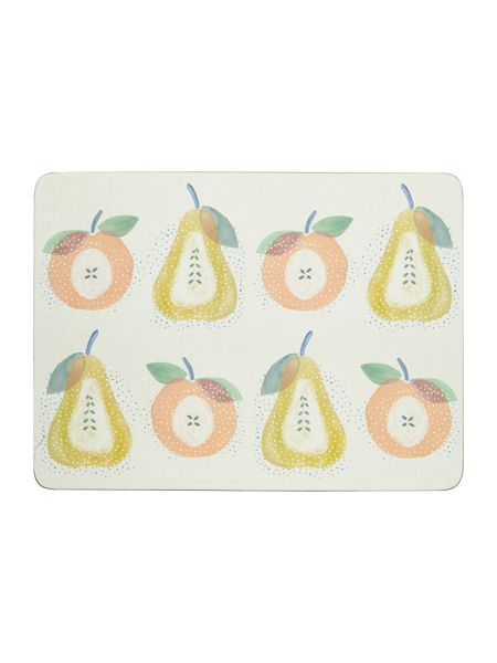 Dickins & Jones Apples & Pears Placemat Set Of 4