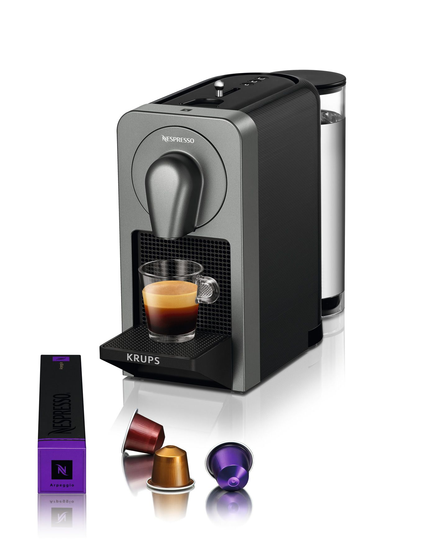 Krups Nespresso Prodigio Coffee Machine Titan