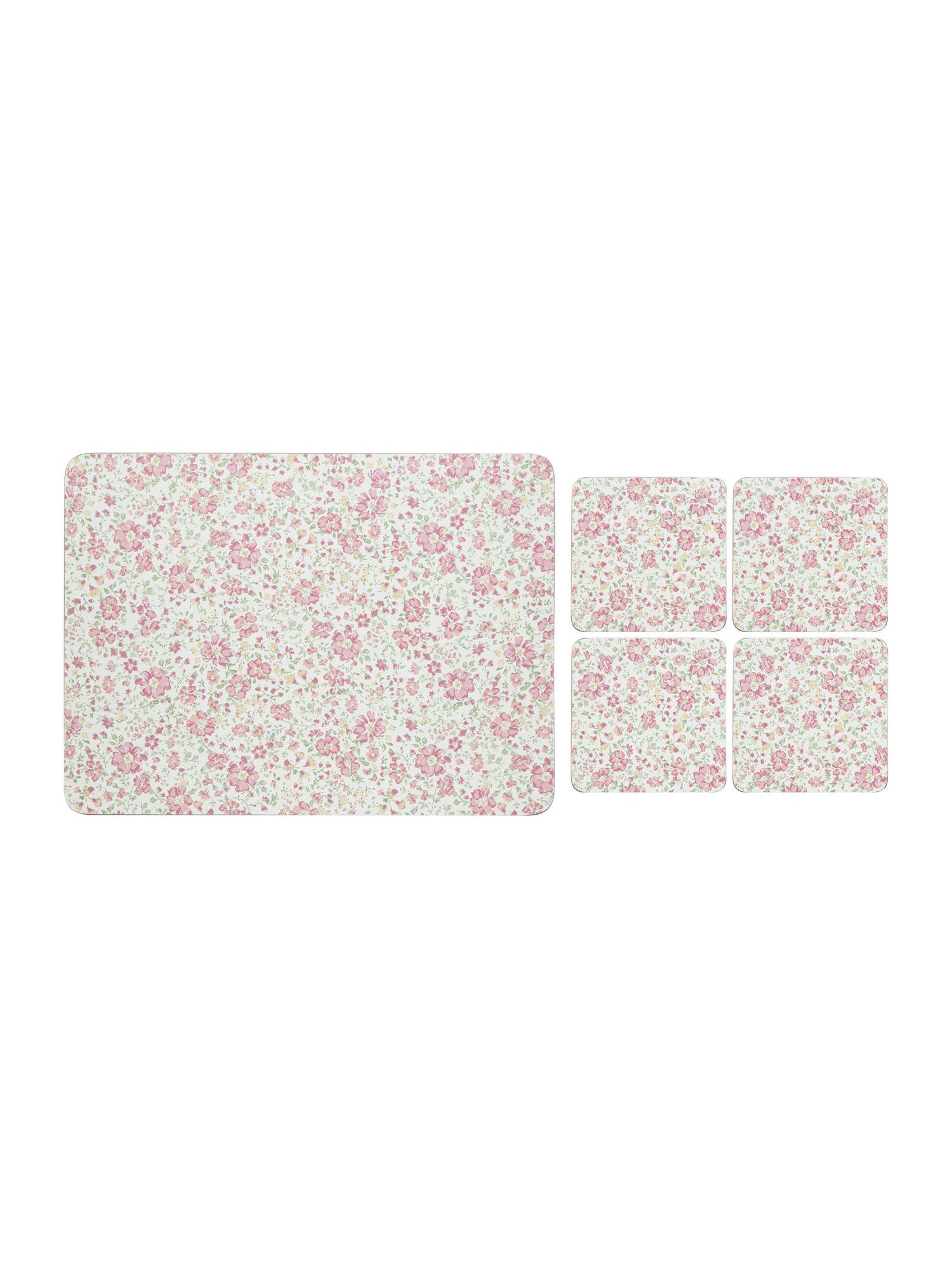 Shabby Chic Shabby Chic Pink Floral Placemat & Coaster Set of 8