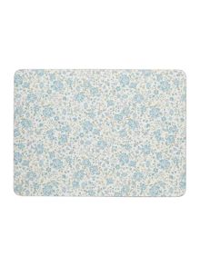 Shabby Chic Blue Floral Placemat & Coaster Set of 8