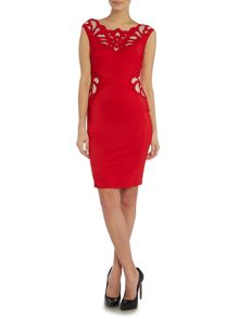 Lipsy Off Shoulder Applique Bodycon Dress