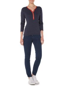 Dickins & Jones Hannah Henley Diamond Print Top