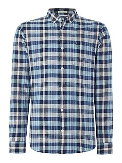 Doresey Indigo Madras Long Sleeve Shirt