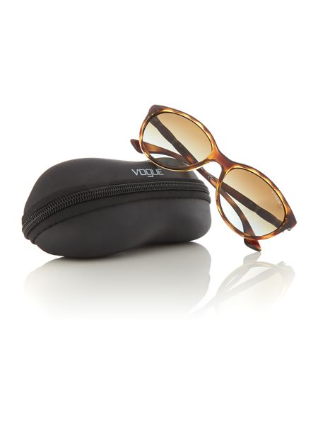 Vogue Havana  oval  sunglasses VO2894SB