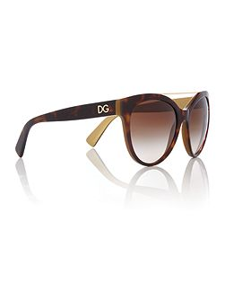 Brown round DG4280 sunglasses