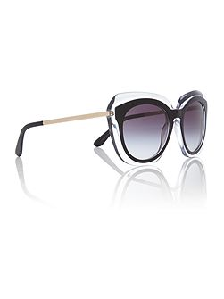 Black irregular DG4282 sunglasses