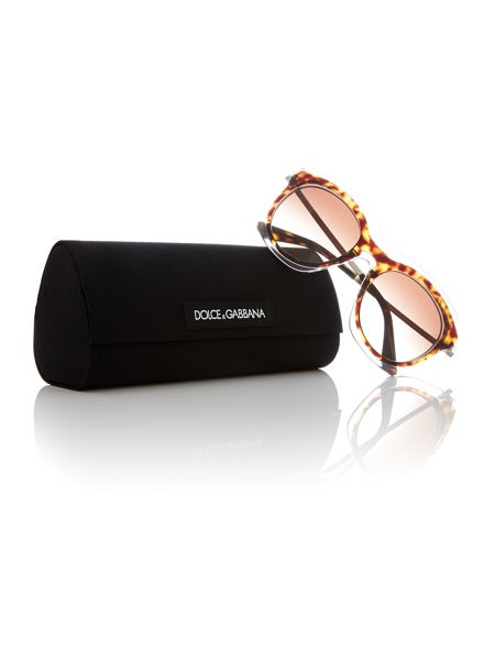 Dolce&Gabbana brown irregular DG4282 sunglasses