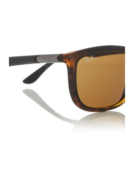 Ray-Ban Havana  square  sunglasses RB8351