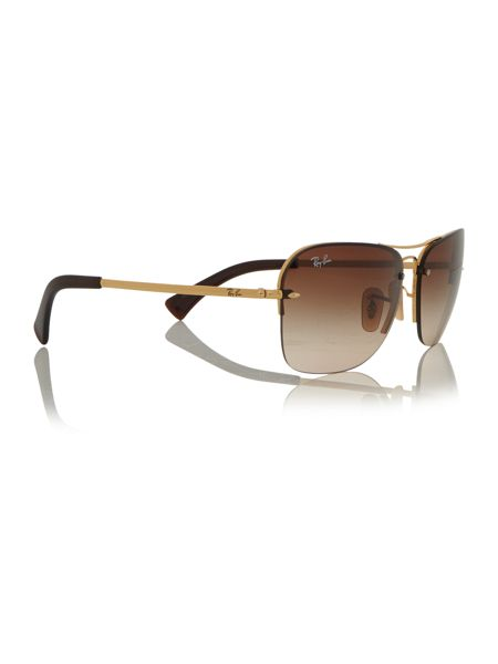 Ray-Ban Gold rectangle RB3541 sunglasses