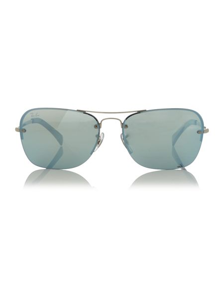 Ray-Ban Silver rectangle RB3541 sunglasses